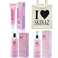 Combo mỹ phẩm Skinaz dành cho da mụn - Tặng kèm túi xách thời trang tiện dụng thumbnail