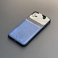 Ốp lưng da kính cao cấp dành cho iPhone X iPhone XS - Màu xanh thumbnail