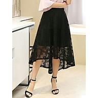 Chân váy xòe phủ ren siêu mịn, dáng tiểu thư vạt chéo thumbnail