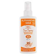 Kem chống nắng hữu cơ Alphanova SPF50 125g dạng xịt cho bé thumbnail