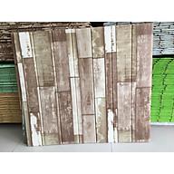 Bộ 10 tấm Xốp dán tường 3D giả gỗ nhiều màu thumbnail