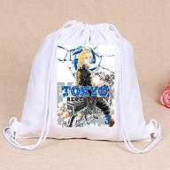 Balo dây rút trắng in hình TOKYO REVENGERS anime chibi túi rút đi học xinh xắn thời trang thumbnail