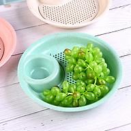Khay đựng đồ ăn có khay thoát nước kèm bát nước chấm lua mạch - Giao màu ngẫu nhiên thumbnail