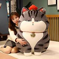 Gấu bông mèo hoàng thượng siêu to khổng lồ, gấu bông mèo hoàng thượng cao cấp vải nhung co giãn 4 chiều thumbnail