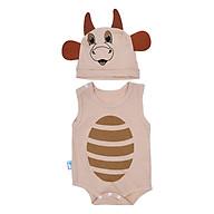 Bộ Bodysuit Hình Con Bò MihaBaby BDS08_COW - Sữa thumbnail