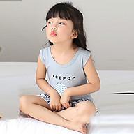 Bộ đồ cho bé gái hình thú chất liệu thun cotton tháng mát 104-Gái thumbnail