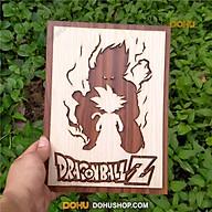 Tranh Gỗ Treo Tường Handmade DOHU002 Son Goku - Thiết Kế Đơn Giản, Độc Lạ, Sang Trọng thumbnail