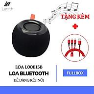 Loa Bluetooth Để Bàn Kiểu Táo Tròn LANITH E15 - Tặng Kèm Cáp Sạc 3 Đầu - Âm Thanh Trong, Bass Chuẩn - Thiết Kế Nhỏ Gọn, Tiện Lợi - Hỗ Trợ Cắm Thẻ Nhớ, USB, Đài FM - Chống Thấm Nước Nhẹ - Hàng Nhập Khẩu - L00E15B thumbnail