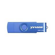 yvonne YT602-3 USB3.0 U Disk Rotating 64GB OTG USB Flash Drive Double Ports High Speed U Disk for Mobile Phone PC Laptop thumbnail