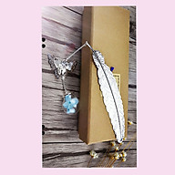 Bookmark lông vũ handmade kim loại cao cấp thumbnail