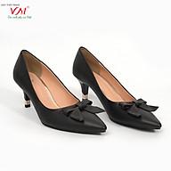 Giày cao gót nữ, chiều cao gót 5CM, da Microfiber nhập khẩu cao cấp êm ái, bền chắc và thời trang. Mũi nhọn, gót nhọn phối kim loại, thiết kế hiện đại, tinh tế, thời trang BL.MHT16B-5F thumbnail
