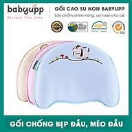 Gối cao su non chống méo đầu, bẹp đầu, nghẹo cổ, còm lưng cho bé. Gối cho trẻ sơ sinh Babyupp thumbnail