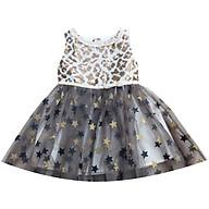 Đầm dạ hội thân họa tiết báo lấp lánh, tùng voal sao T122009 thumbnail