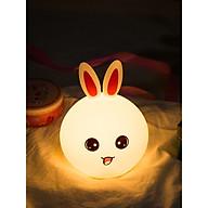 Đèn ngủ cảm ứng đổi màu rabbit ngộ nghĩnh dành cho bé ( Tặng bộ 6 con bướm dạ quang phát sáng cho bé ) thumbnail