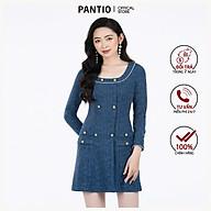 Đầm công sở chất liệu len dáng chữ A dài tay FDC92825 - PANTIO thumbnail