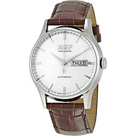 Tissot Men s TIST0194301603101 Heritage Visodate Stainless Steel Automatic Watch with Brown Leather Band thumbnail