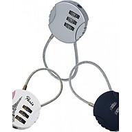 Bộ 3 cái Ổ khóa tròn vali, balo, túi du lịch loại dây cáp mật mã 3 số TK034 thumbnail