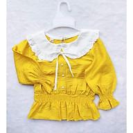 áo kiểu cổ phối bèo tiểu thư xinh cho bé thumbnail