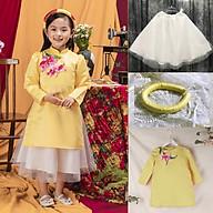 Set Áo Dài Mặc Tết Cho Bé Có Thêu Hoa Xinh Xắn Kèm Váy thumbnail
