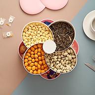 Khay mứt xoay 2 TẦNG 8 NGĂN- Khay đựng bánh kẹo - mứt hình cánh hoa (giao màu ngẫu nhiên) thumbnail