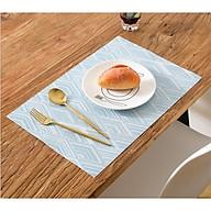 Bộ 02 Tấm Lót Bàn Ăn 30x45cm Hình Thoi Dệt 3D, Không Thấm Nước, Nhiều Màu thumbnail
