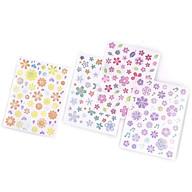 Bộ 4 Tấm Sticker Trang Trí Giấy Sắc Màu Hoa Nhật Bản thumbnail