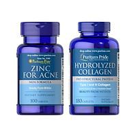 Comb thực phẩm chức năng bảo vệ sức khỏe ZinC for Acne và Hydrolyzed Collagen giúp trị mụn liền sẹo trắng da thumbnail
