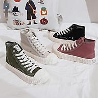 Giày thể thao ulzzang sneaker canvas cao cổ nữ siêu cá tính LAH STORES GCCNU02 thumbnail