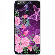 Ốp lưng dành cho Honor 7X mẫu Hoa hồng bướm tím thumbnail
