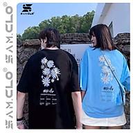 Áo thun tay lỡ freesize phông form rộng Unisex nữ, mặc cặp, nhóm, lớp in hình hoa cúc chữ 10 RULER thumbnail