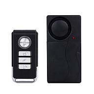 Bộ báo động cảm biến rung có điều khiển từ xa (màu đen) - Tặng kèm đèn pin bóp tay mini thumbnail