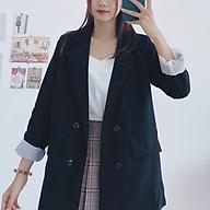 Áo Khoác Blazer Hàn Quốc 2 Lớp Dày Dặn Form Đẹp thumbnail