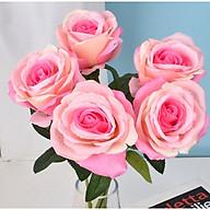 Hoa hồng giả trang trí nhà của bán làm việc, bàn ăn, nhà hàng, quán cafe [Tặng thanh dũa móng tay ngẫu nhiên] thumbnail