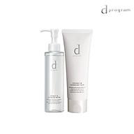 Bộ đôi nước tẩy trang và sữa rửa mặt tạo bọt dưỡng da D Program dành cho da nhạy cảm Essence In Cleansing Water & Cleansing Foam (180ml+120g) thumbnail