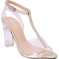 Giày Nữ Gót Vuông 2 Dây Mozy MZSD035.1 - Vàng Đồng thumbnail