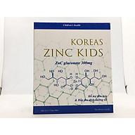 Bổ sung kẽm tăng cường đề kháng cho trẻ, kích thích ăn ngon, ngủ ngon KOREAS ZINC KIDS-Hộp 20 ống chứa Kẽm Gluconat không gây táo bón thumbnail