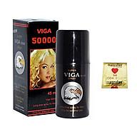 Viga 50000 Delay Spray (45ml) Chai Xịt Kéo Dài Thời Gian Quan Hệ Cho Nam - Kèm BCS Masculan (1c) - Che Tên Sản Phẩm thumbnail