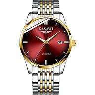 Đồng hồ nam KASAWI K02 Lịch ngày sang trọng doanh nhân 2020 dây hợp kim thép không gỉ thumbnail