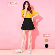 Chân váy ngắn chữ A xếp ly nữ GINDY chân váy xòe lưng cao phong cách tennis V20017 thumbnail