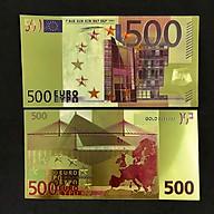 Tiền 500 EURO mạ vàng dùng dùng để trang trí trong nhà, lưu niệm, làm kỷ niệm, làm quà tặng thú vị, kích thước 16 x 8cm, màu vàng - TMT Collection - SP000146 thumbnail