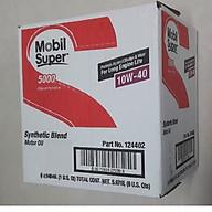 Thùng 6 chai dầu động cơ đốt trong MOBIL SUPER 10W-40 (6 chai x 946ml) - Dầu nhớt Mobil nhập khẩu từ Mỹ thumbnail