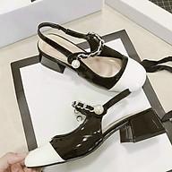 Giày Gót Vuông Hạt Ngọc thumbnail