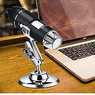 Kính soi vi sinh phóng đại 1600 lần kết nối laptop, smartphone thông minh cao cấp tích hợp đèn 8 led trắng ( Tặng 04 móc dán tường 3D chịu lực ngẫu nhiên ) thumbnail