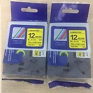Combo 02 cuộn nhãn TZ2-631 tiêu chuẩn - Chữ đen trên nền vàng 12mm - Hàng nhập khẩu thumbnail
