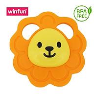 Gặm nướu mềm hình sư tử BPA Free an toàn cho bé - Winfun 0164 - Đồ chơi cho bé sơ sinh tới 1 tuổi tập cầm, gặm, cắn - tặng đồ chơi tắm màu ngẫu nhiên thumbnail