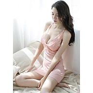 Váy ngủ ren xẻ ngực hai dây đan lưng gợi cảm N174 thumbnail
