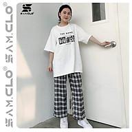 Áo thun nữ tay lỡ SAM CLO freesize phông form rộng dáng Unisex, mặc lớp, nhóm, cặp in chữ THE BAND CURE LIVE thumbnail