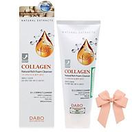 Sữa rửa mặt collagen dưỡng da sạch nhờn Dabo 3in1 Hàn quốc ( 180ml) và nơ thumbnail