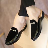 Giày Sục Nam Da Mềm, Mặt Giày Da Lộn, Đai Vàng Mạ Chống Gỉ- Đế Cao Su Non - Màu Đen - Mã L194 - Hàng Việt Nam thumbnail