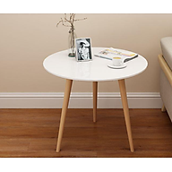 Bàn trà, bàn sofa tròn trắng 60x50, bàn cafe phòng khách, bàn coffee, bàn gỗ MDF chất lượng thumbnail